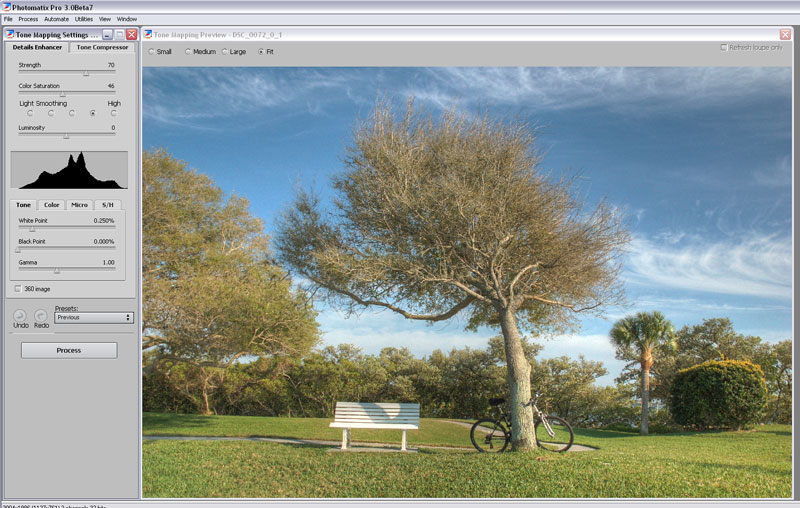 Photomatix Tone Mapping options